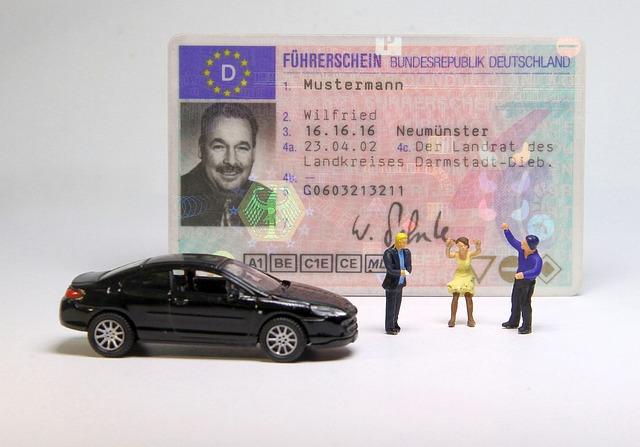prawo jazdy i samochód